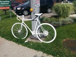 Ghost Bike Tecumseh & Parent