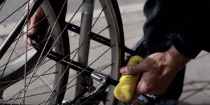 Lock a bike