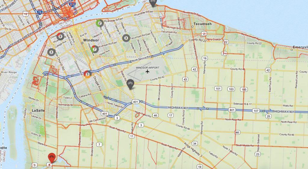 bikemaps windsor